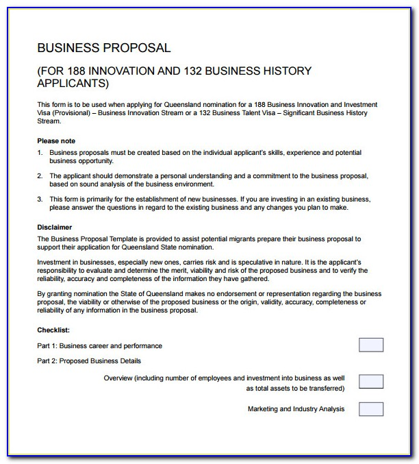 Writing A Business Proposal Template Pdf