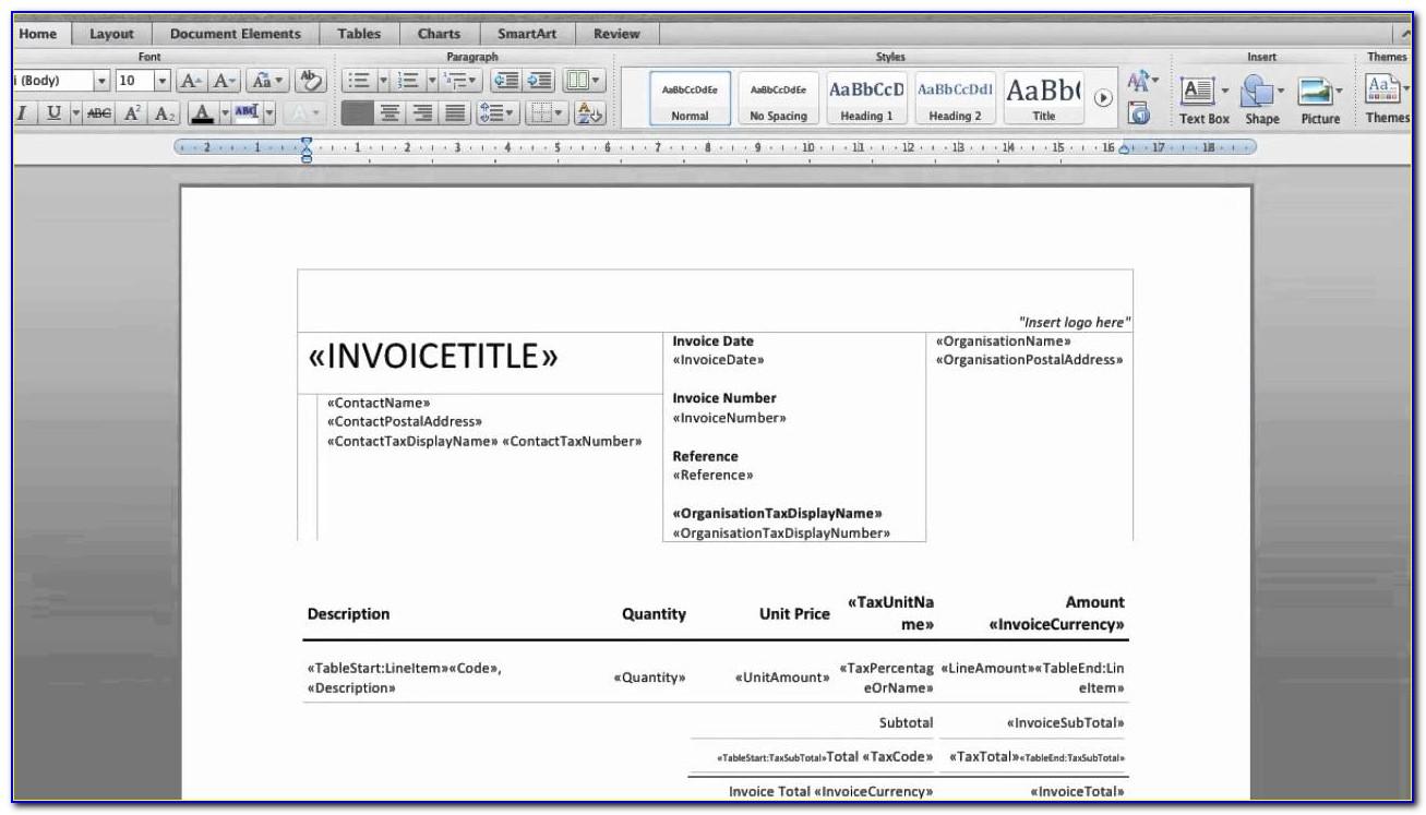 Xero Invoice Templates Free