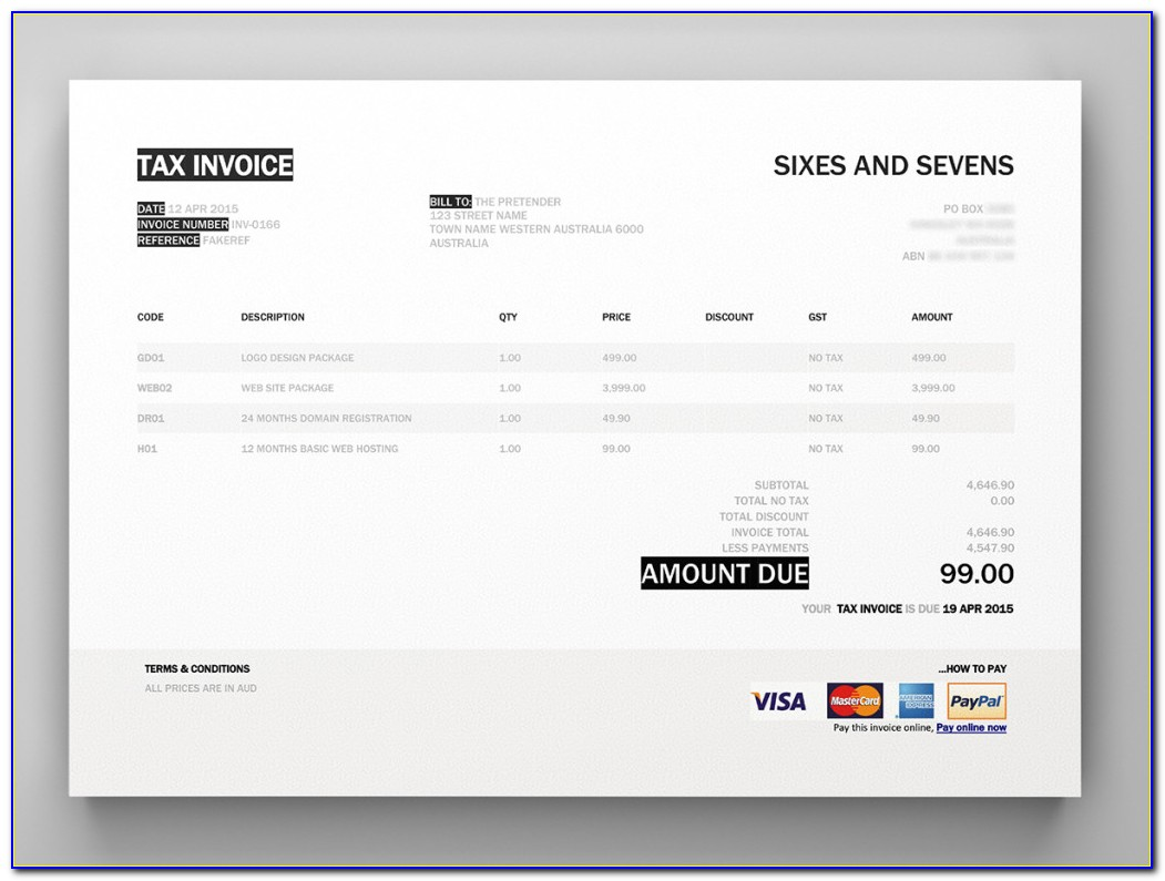 Xero Invoice Templates Uk