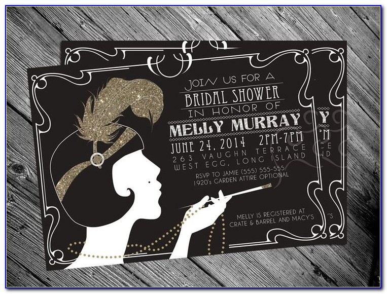1920's Birthday Invitation Templates Free