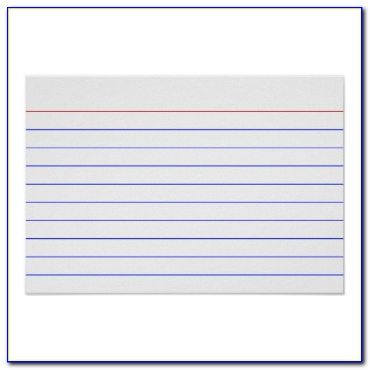3x5 Index Card Template Excel