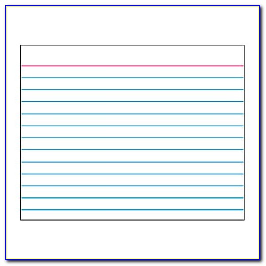 3x5 Index Card Template Open Office