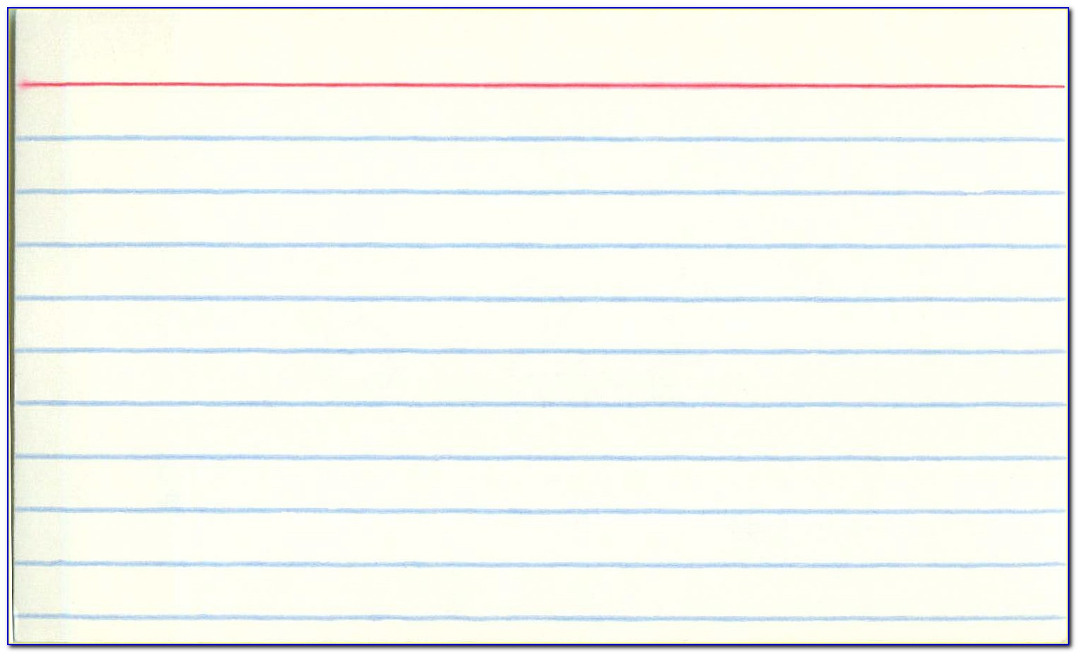 3x5 Index Card Template Printable