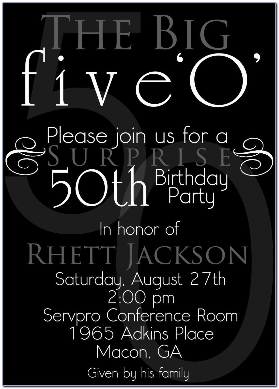 50th Birthday Invitation Layout