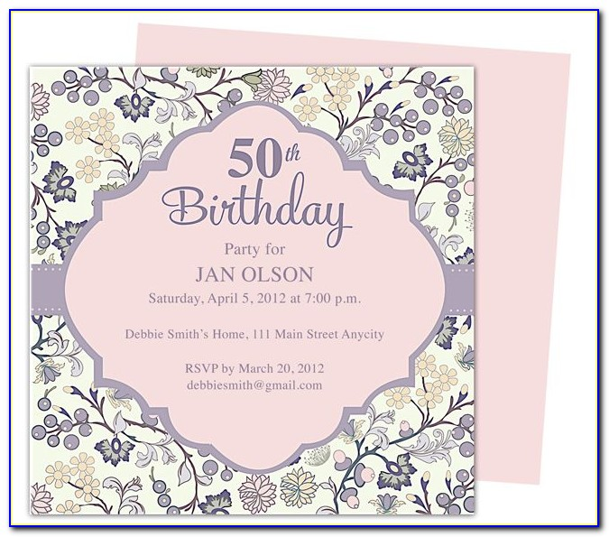 50th Birthday Invites Templates Free