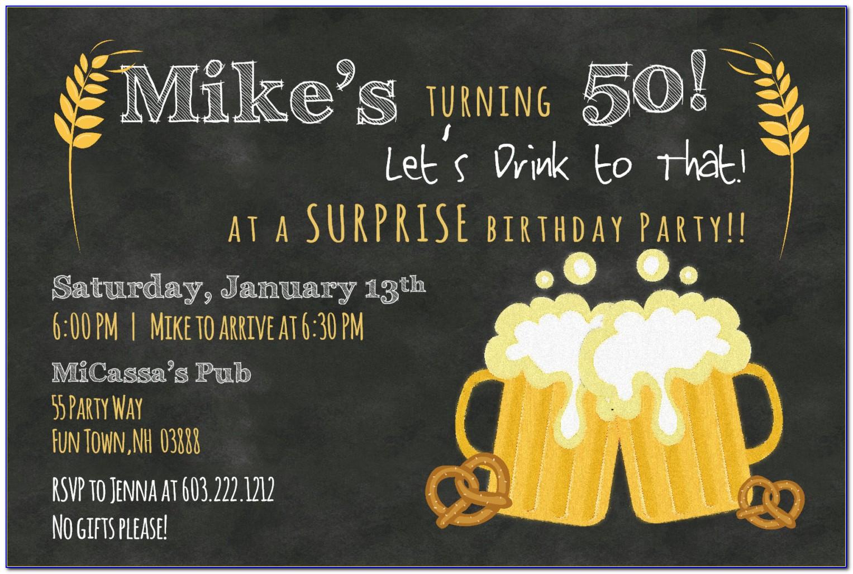 50th Invitation Templates Free