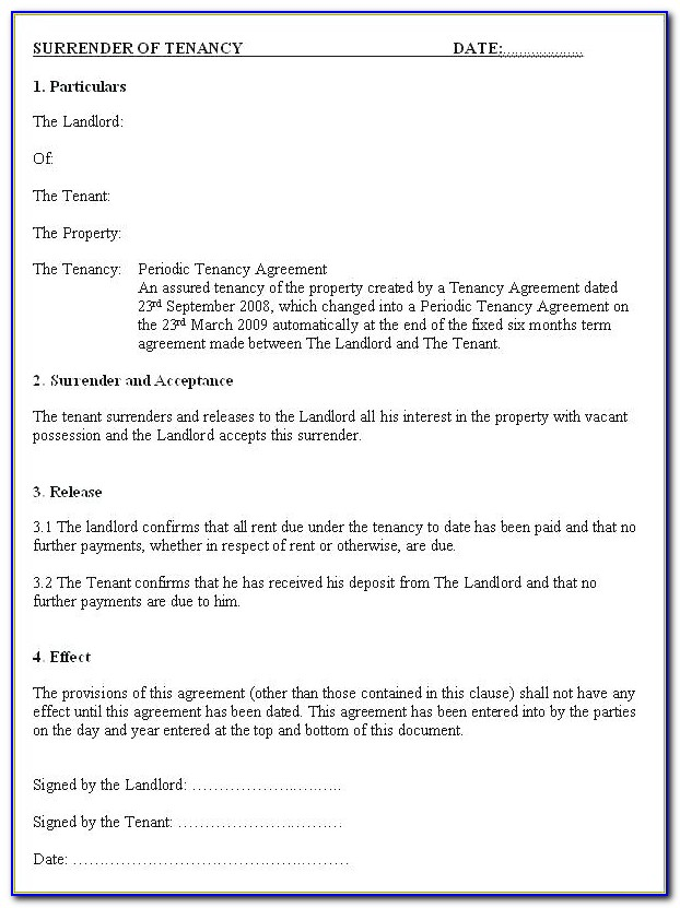 Addendum To Lease Agreement Format