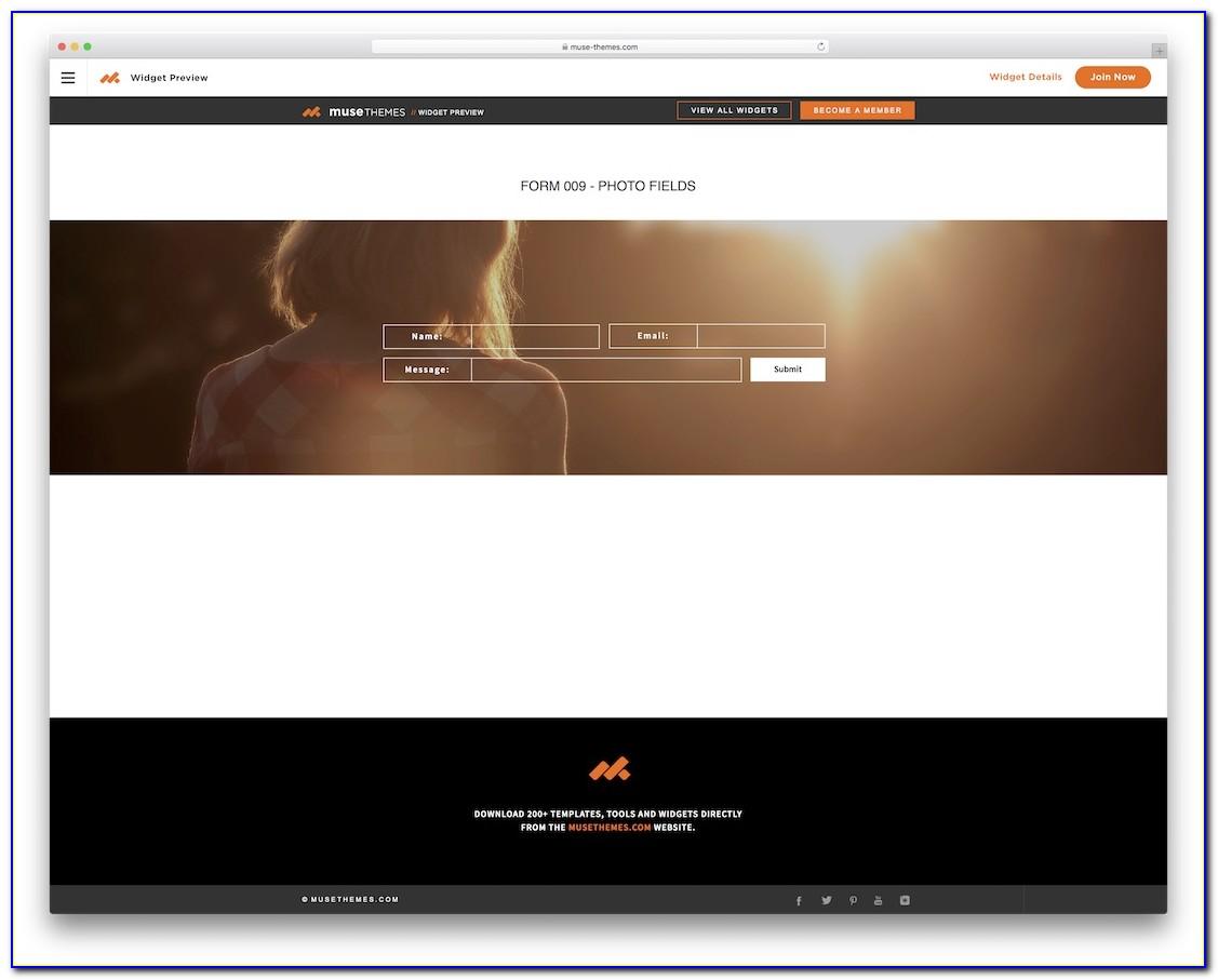 Adobe Muse Photo Gallery Templates