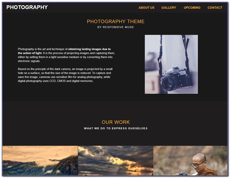 Adobe Muse Portfolio Templates