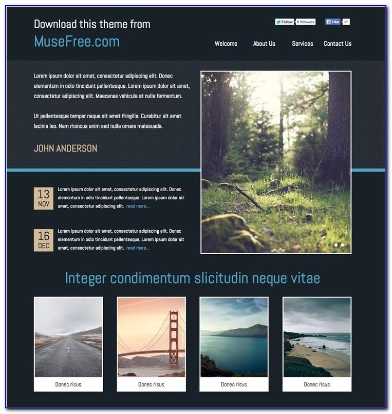Adobe Muse Portfolio Templates Free