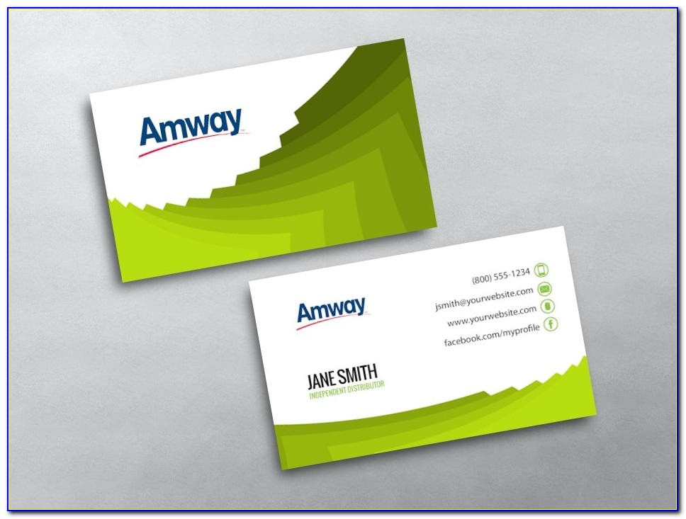 Amway Business Card Template