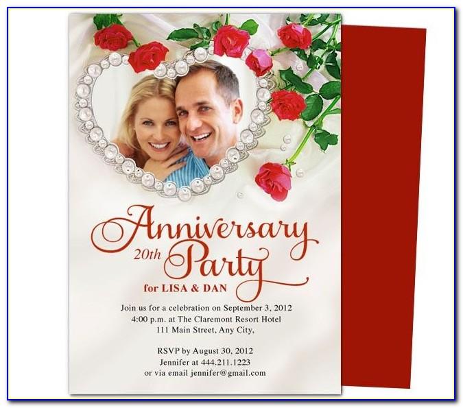Anniversary Dinner Invitation Template