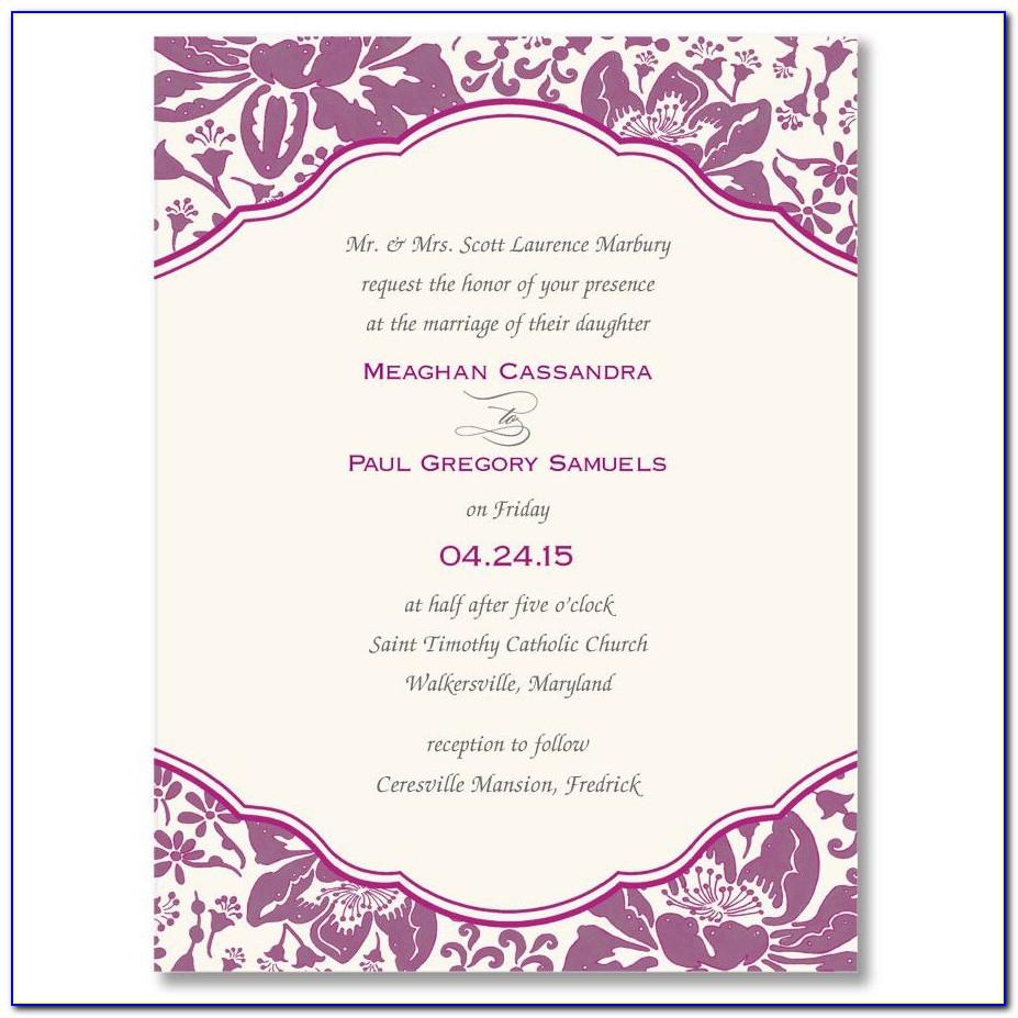 Anniversary Invitation Card Template