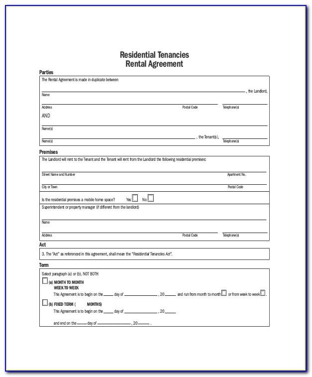 Apartment Sublease Contract Template