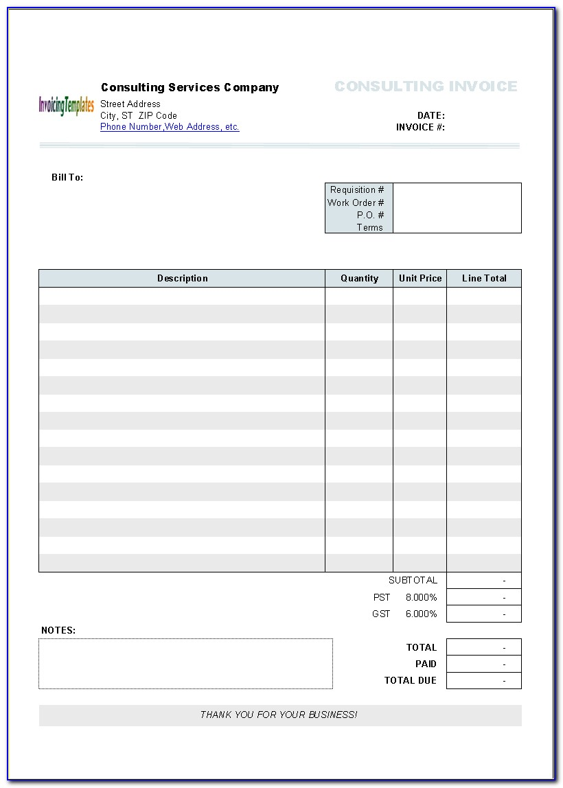Apple Numbers Invoice Template