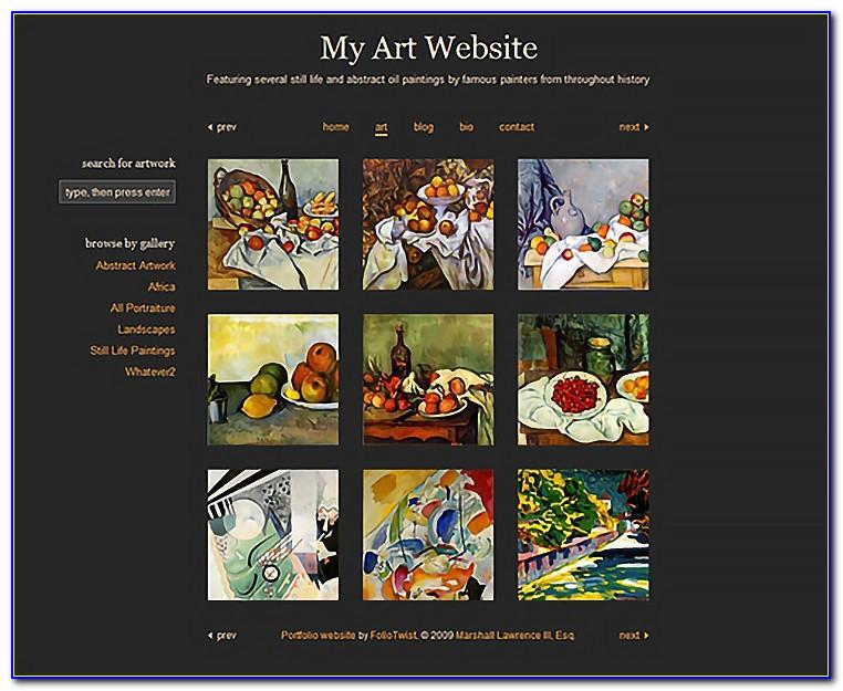 Art Gallery Website Templates Free Download