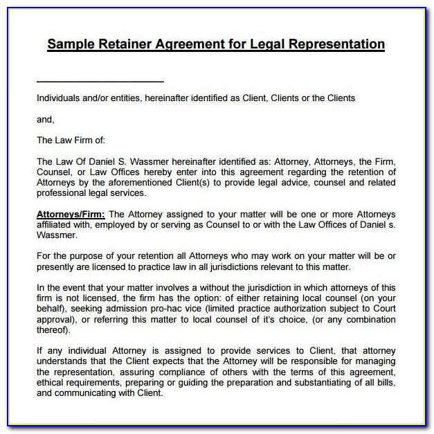 Attorney Retainer Agreement Form