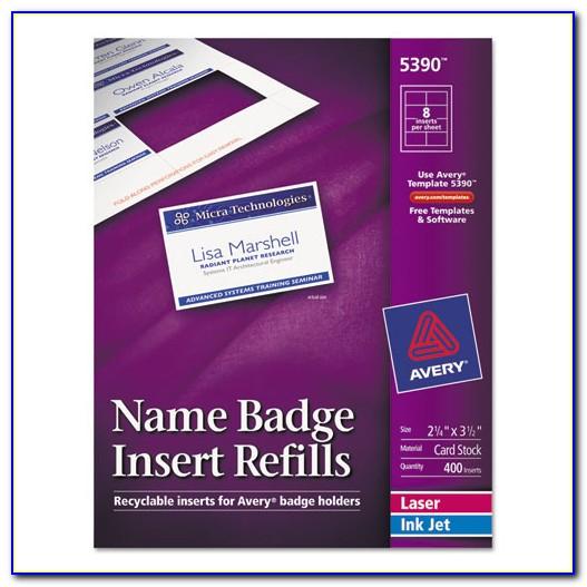 Avery Name Badge Template 74461