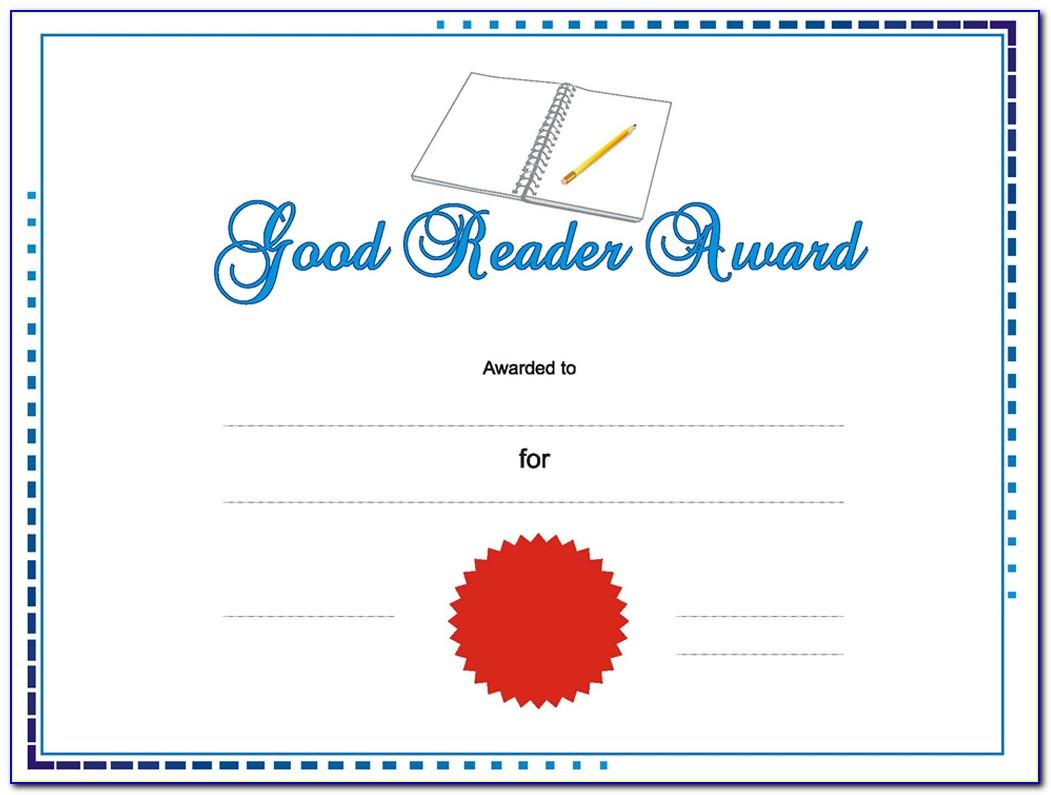 Award Certificate Template Microsoft Publisher