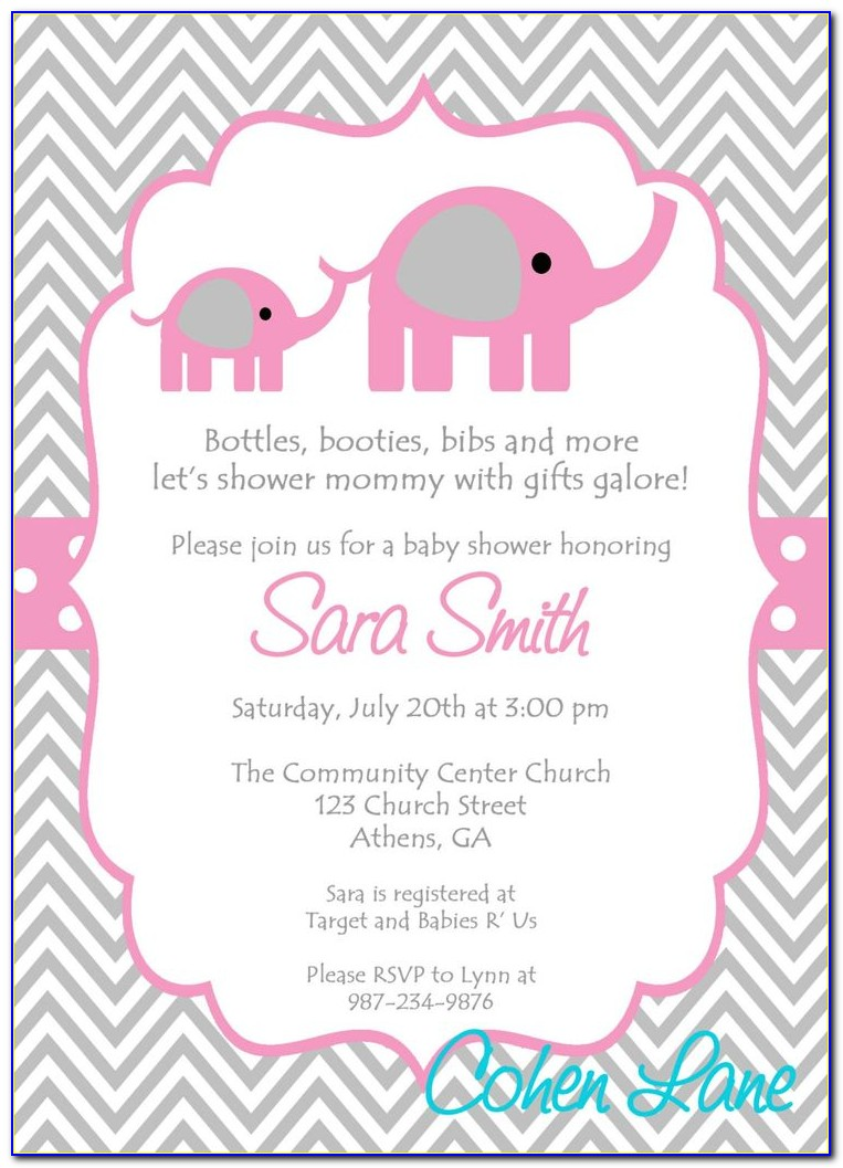 Baby Girl Announcement Email Template