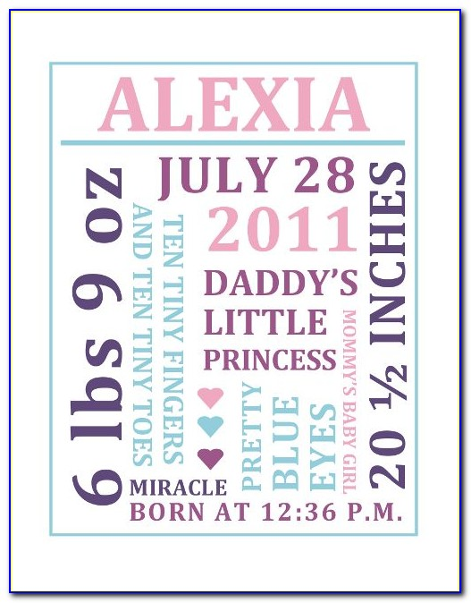 Baby Girl Announcement Wording Samples