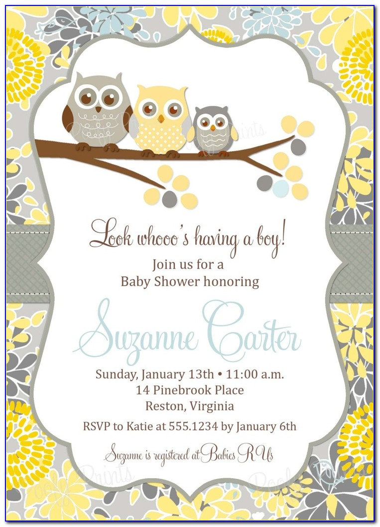 Baby Shower Invitation Template Editable