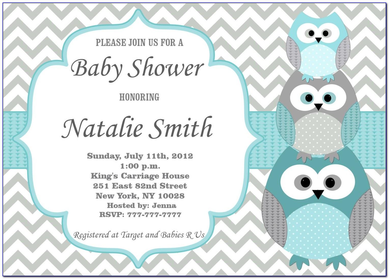 Baby Shower Invitation Template Microsoft Word