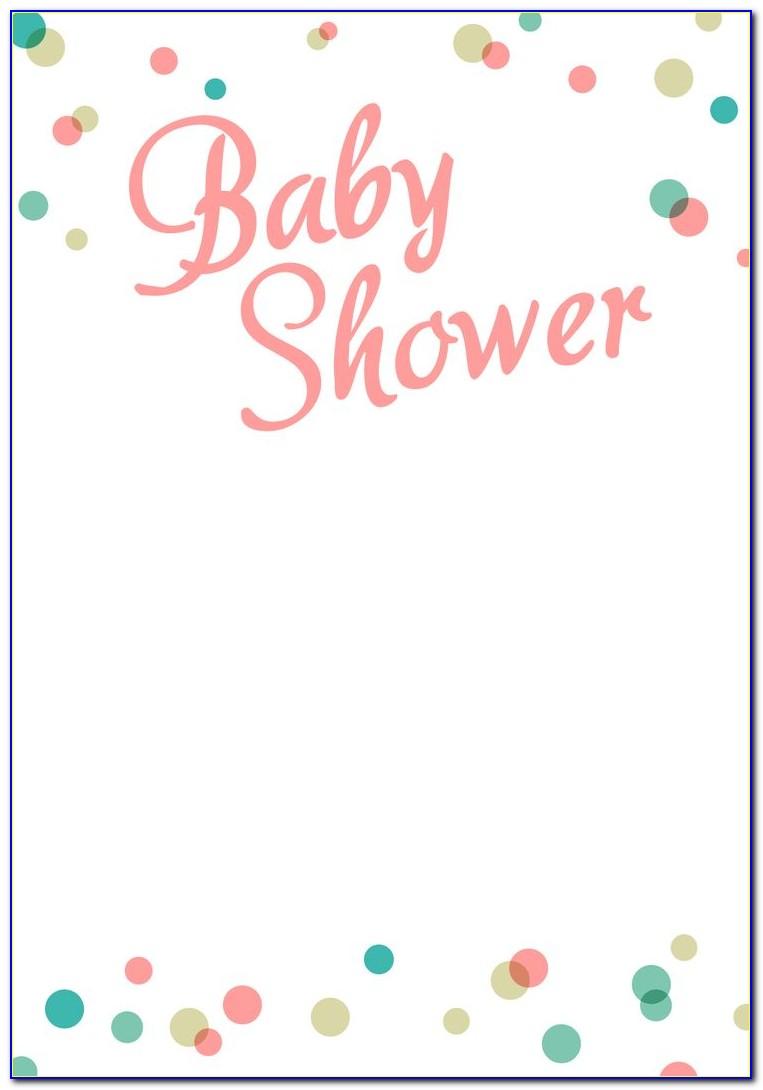 Baby Shower Invite Template Microsoft Word