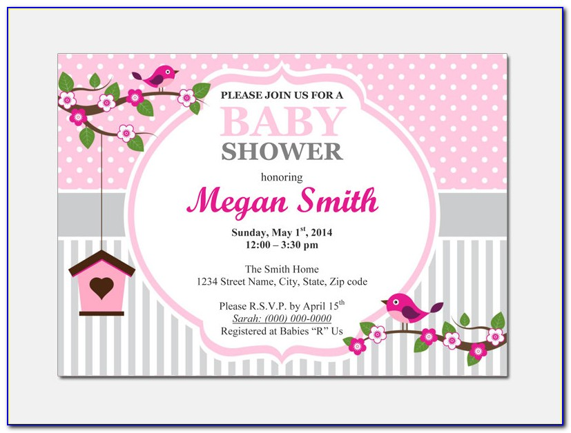 Baby Shower Invite Template Microsoft