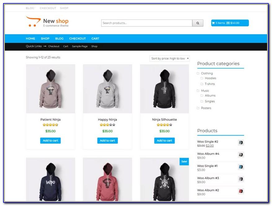 Best Free E Commerce Wordpress Templates