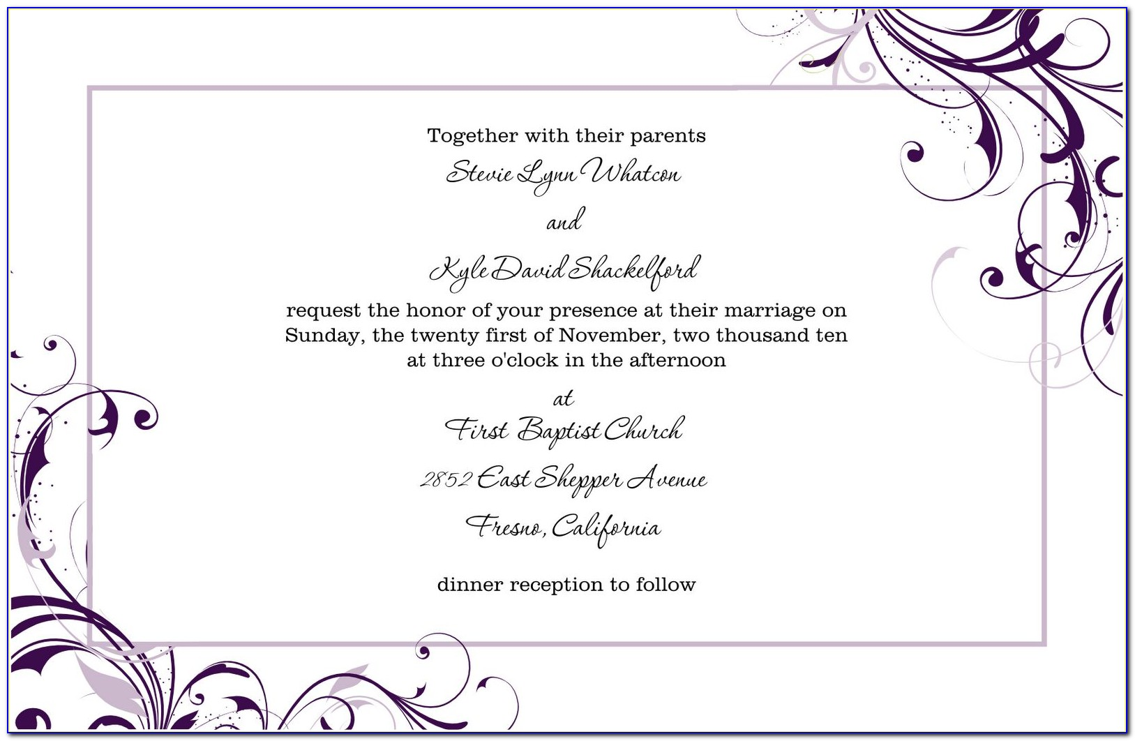 Birthday Invitation Templates Word Format
