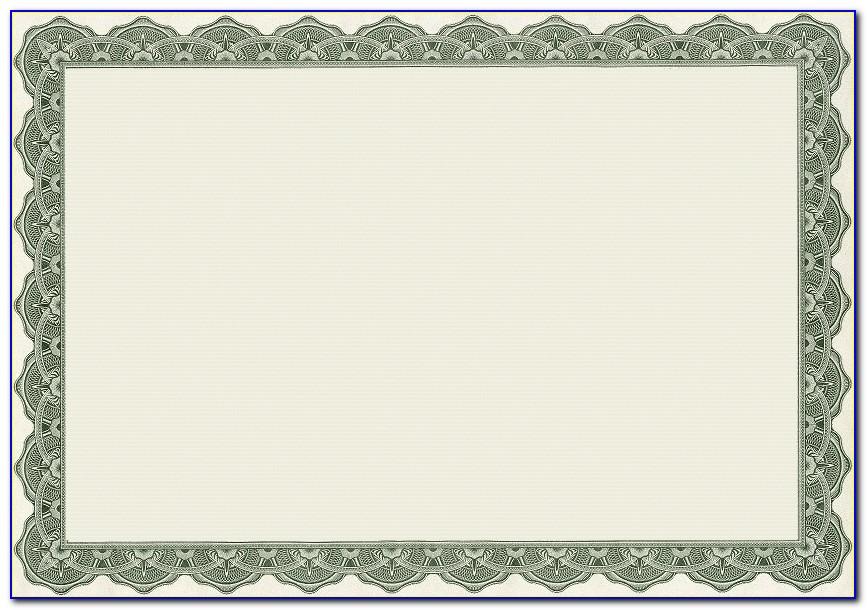 Blank Certificate Template Word