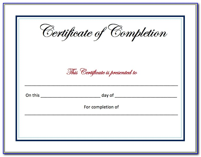 Blank Certificate Templates Pdf