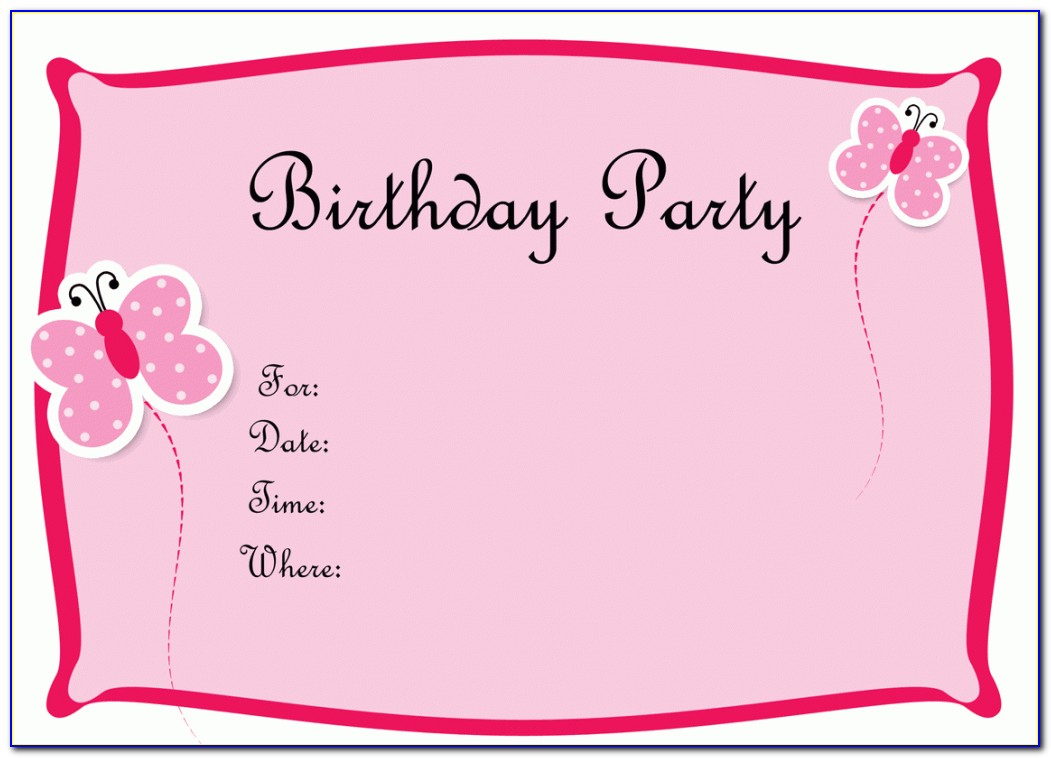 Blank Invitation Templates Free For Word