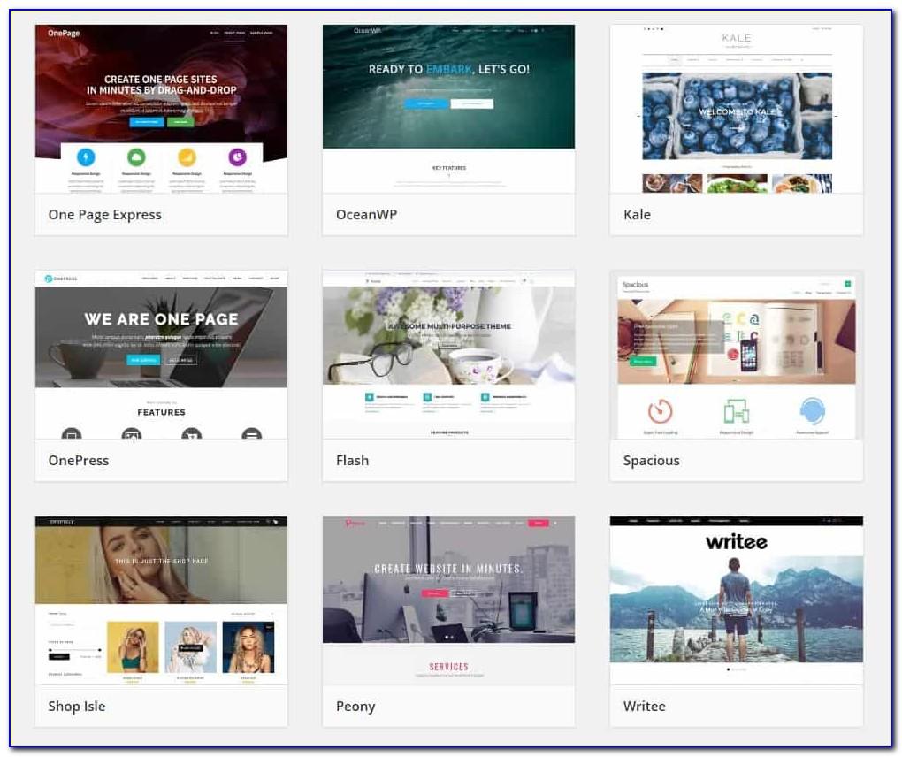Bluehost Website Builder Templates