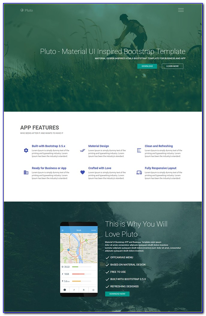 Bootstrap Template Landing Page Free