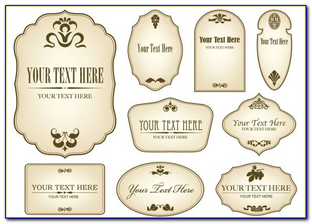 Bottle Label Template Free Download