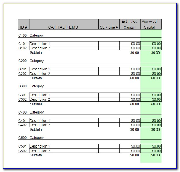 Business Budget Template Excel 2010