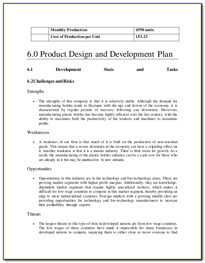 Business Plan Template For Video Production Company