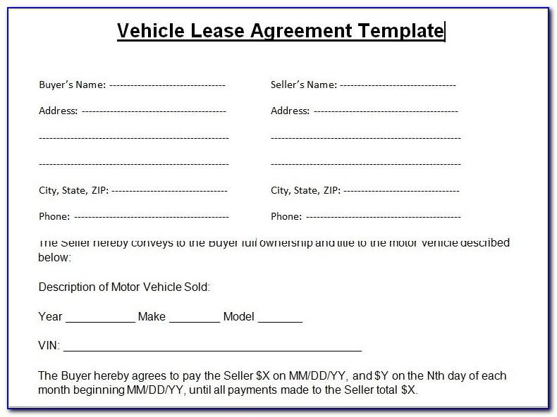 Car Rental Agreement Template Nz