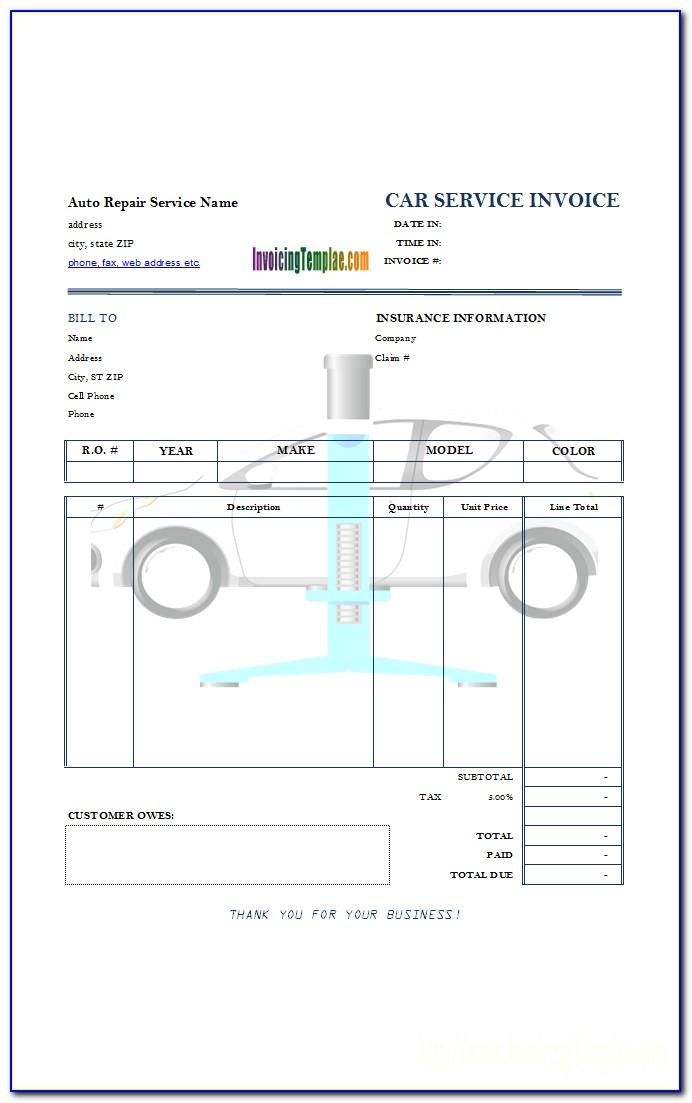 Car Repair Invoice Example