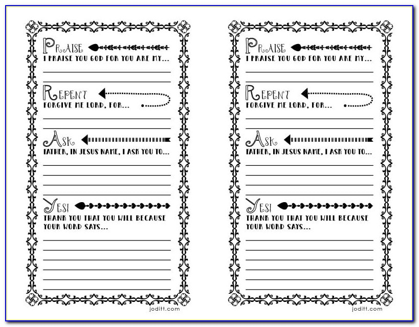 Catholic Prayer Journal Template