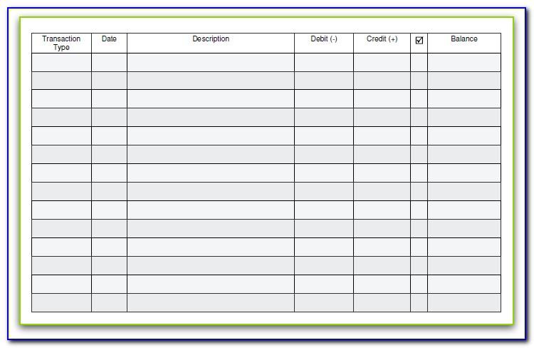 Checkbook Register Template Excel 2013
