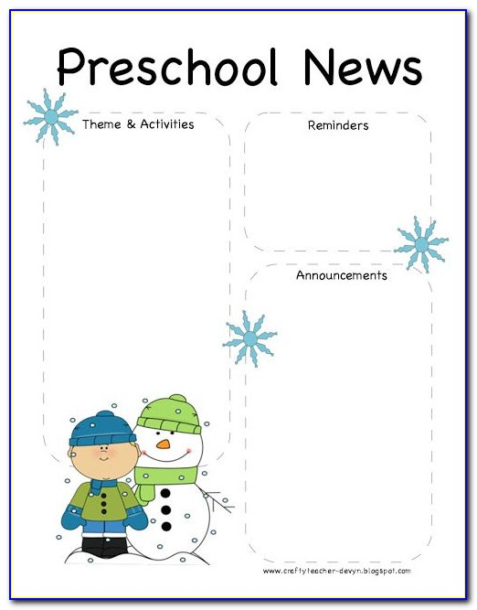 Child Care Center Newsletter Template