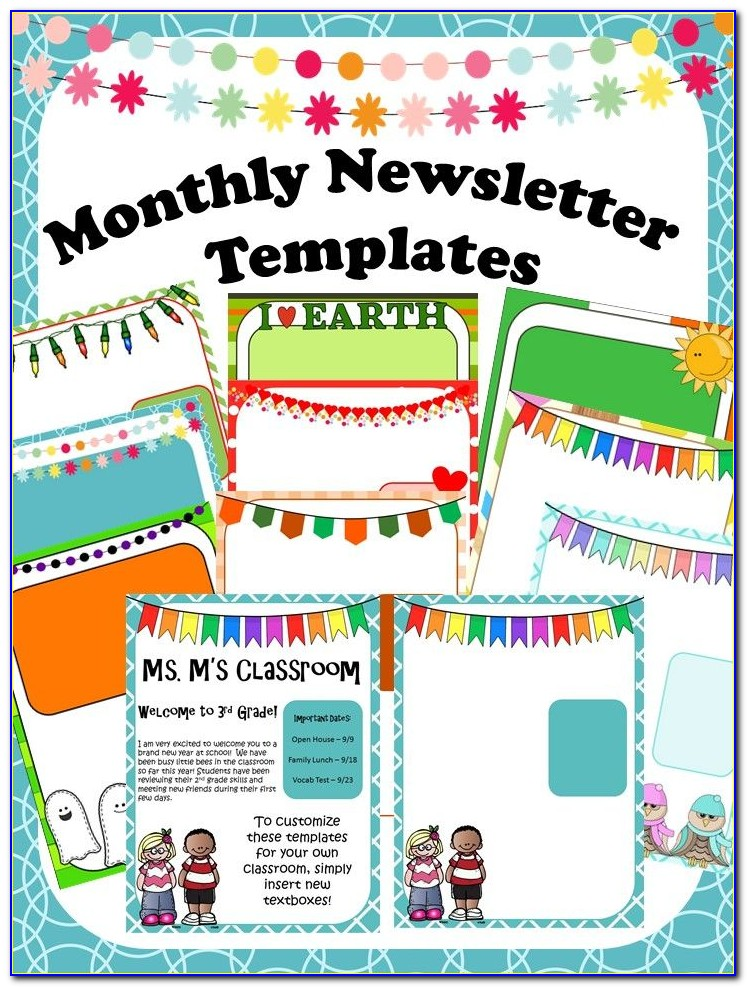 Child Care Centre Newsletter Template