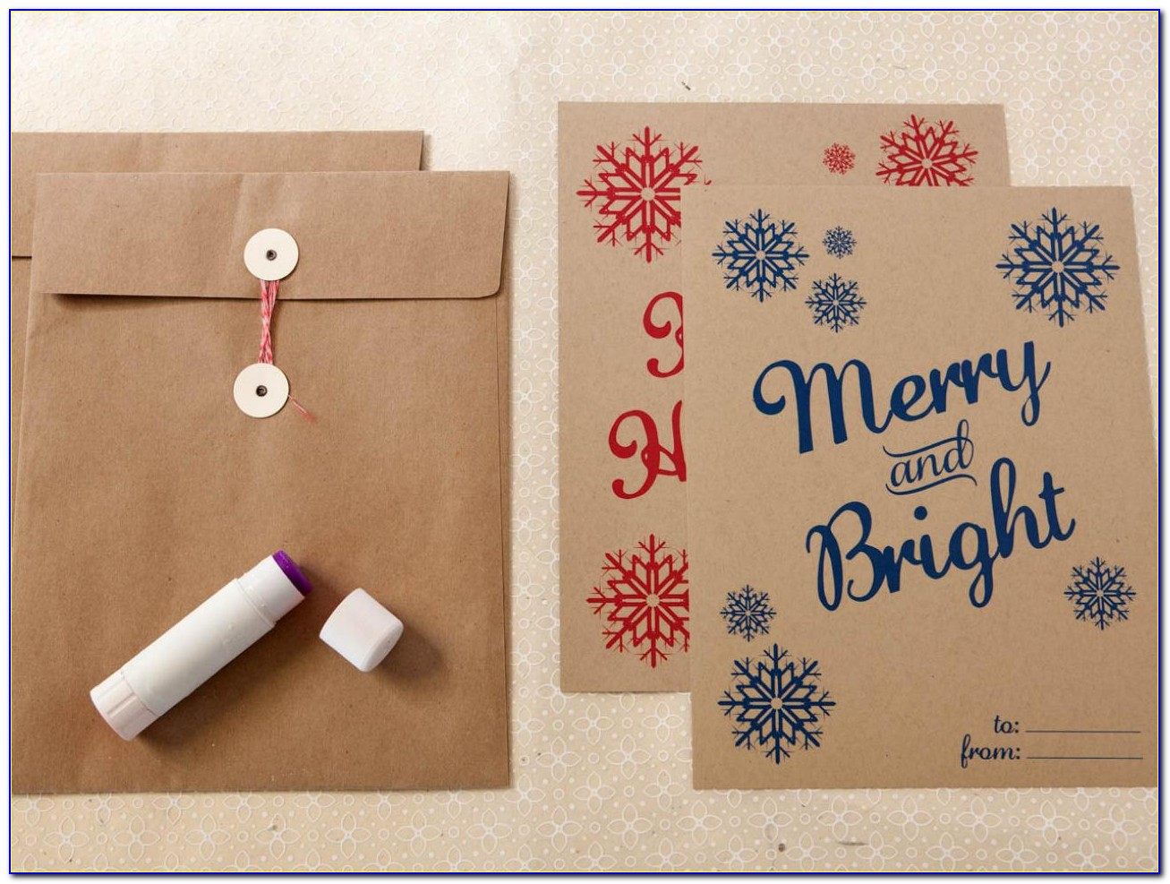 Christmas Card Envelope Template Word