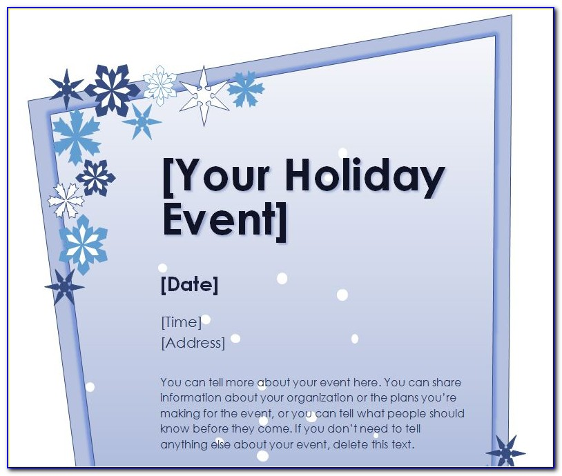 Christmas Flyer Template Word