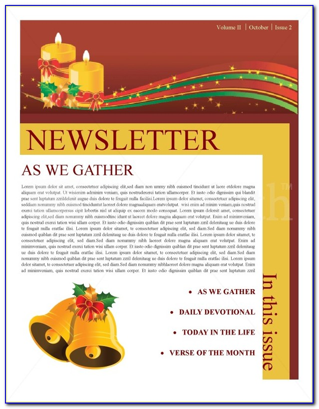 Christmas Newsletter Template Microsoft Word