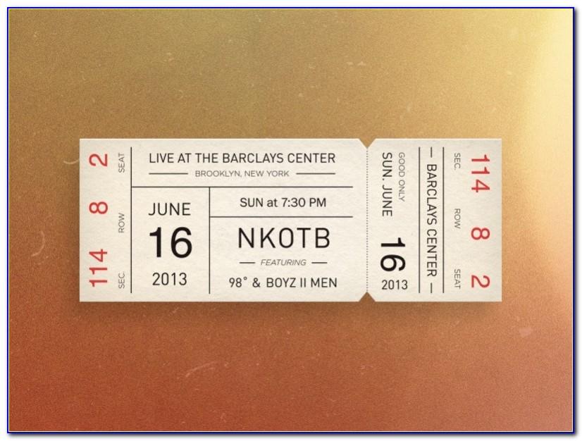 Concert Ticket Template Photoshop
