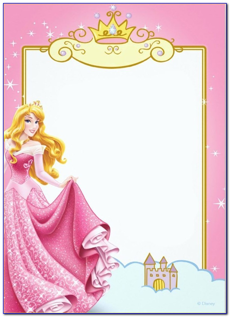 Disney Princess Photo Invitation Template